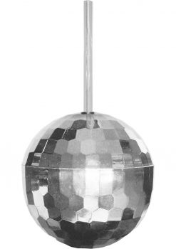 Disco Ball Plastic Cup With Straw Holds 12 Ounce