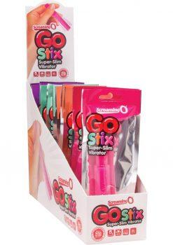 Screaming O Go Stix Super Slim Vibrator Assorted Colors 16 Each Per Display