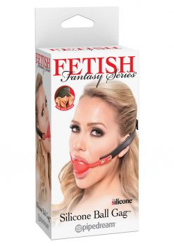 Fetish Fantasy Silicone Ball Gag Red