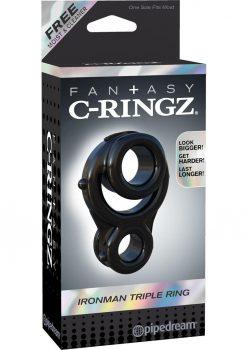 Fantasy C-Ringz Ironman Triple Ring Black