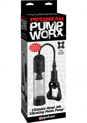 Pump Worx Ultimate Head Job Vibrating Pump Clear 8.8 Inch
