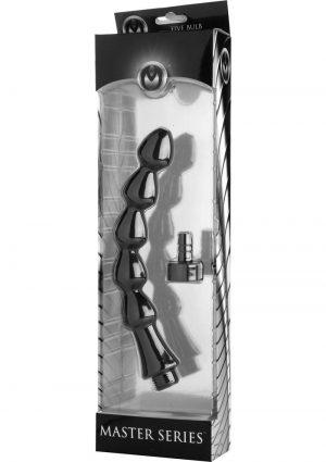Canal Five Bulb Silicone Enema Attachment Black 10 Inch