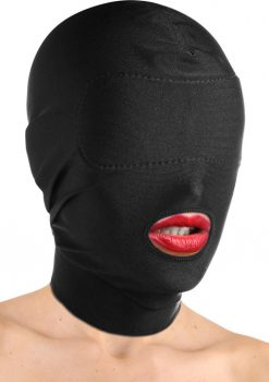 Master Series Disguise Open Mouth Padded Hood Mask Black