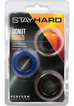 Stay Hard Donut Rings 3 Pack