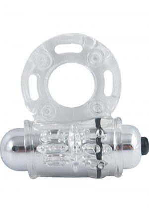 Stay Hard Vibrating Bull Ring Waterproof Clear