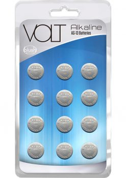 Volt Akaline AG-13 Batteries 12 Each Per Pack