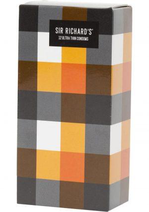 Sir Richards Ultra Thin Latex Condoms 12 Each Per Pack