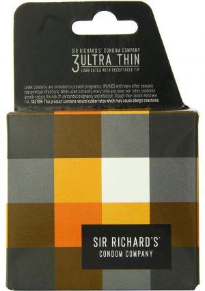 Sir Richards Ultra Thin Latex Condoms 3 Each Per Pack