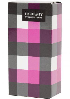 Sir Richards Pleasure Dots Textured Latex Condoms 12 Each Per Pack