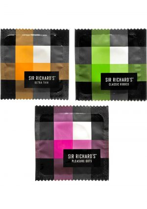 Sir Richards Collection Assorted Latex Condoms 12 Each Per Pack