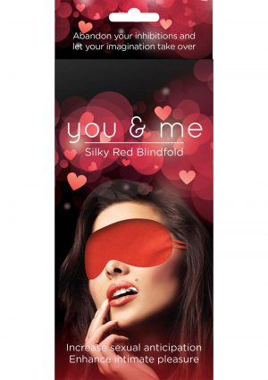 You And Me Silky Blindfold Red