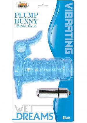 Wet Dreams Vibrating Plump Bunny Rabbit Sleeve Blue
