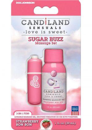 Candiland Sugar Buzz Massage Set Waterproof Bullet Strawberry