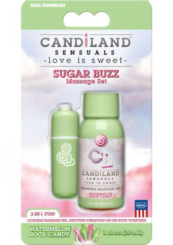 Candiland Sugar Buzz Massage Set Waterproof Bullet Watermelon