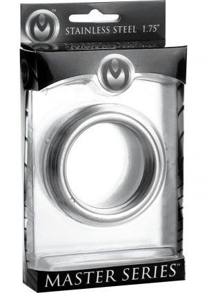 Master Series Echo Stainless Steel Triple Cockring 1.75 Inch In Diameter