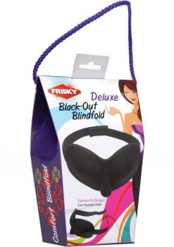 Frisky Deluxe Black-out Blindfold Black