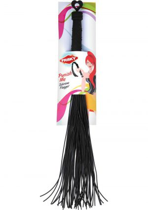Frisky Punish Me Silicone Flogger Black 19.25 Inches