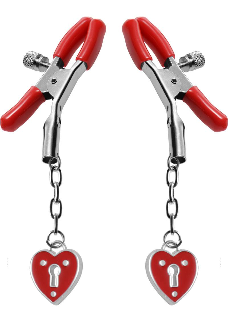 Charmed Heart Padlock Nipple Clamp