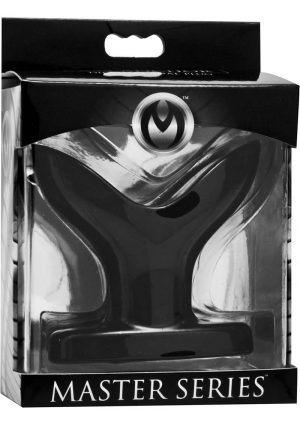 Master Series Dilating Anal Plug Black 2.5 Inches