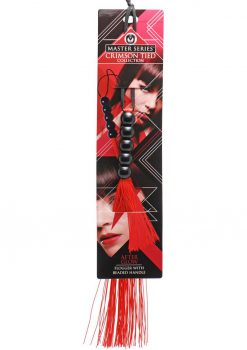 After Glow Rubber Flogger Beaded Handle