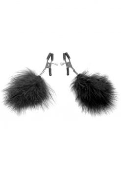 Frisky Feathered Nipple Clamps Black