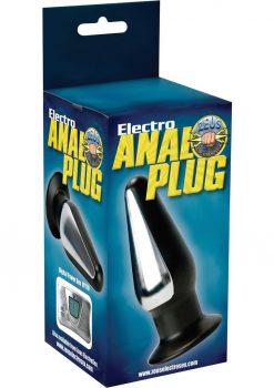 Zeus Electro Anal Plug Black 5 Inch