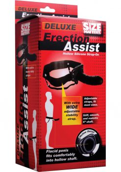 Size Matters Erection Assist Hollow Strap On Black 6 Inch