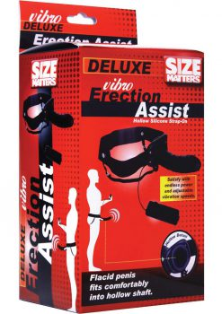 Size Matters Vibrating Hollow Strap On Black 6 Inch