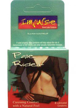 Impulse Condom Pale Rider Lubricated 3 Pack