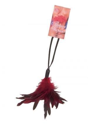 Fantasy Tickler Pleasure Feather Red