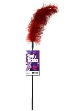 Body Tickler Ostrich Feather Tickler Red