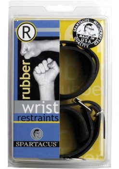 Rubberline Locking Wrist Restraints Black