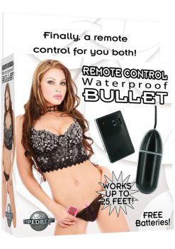 Waterproof Remote Control Bullet Black