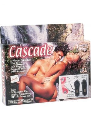 Cascade Couples Stimulator Enhancer With Dual Stimulators Pink
