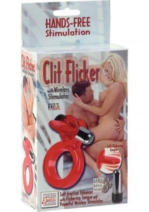 Clit Flicker With Wireless Stimulator Red