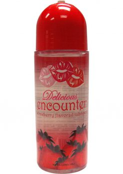 Delicious Encounter Flavored Water Based Lubricant 5.25 Ounce Strawberry