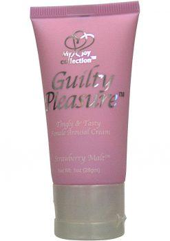 Guilty Pleasure Tingly And Tasty Female Arousal Cream 1 Ounce Strawberry Malt