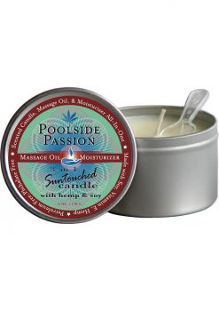 3 In 1 Suntouched Massage Oil Candle With Hemp and Soy Poolside Passion 6 Ounce