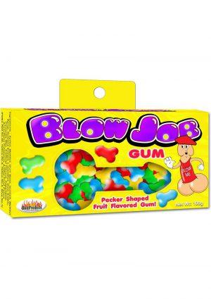 Blow Job Pecker Shaped Gum Assorted Fruit Flavored