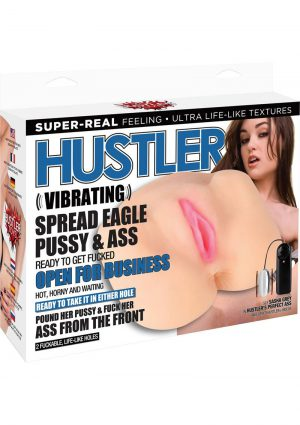 Hustler vibrating Spead Eagle Pussy And Ass TPR Flesh