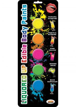 Liquored Up Body Paints 5 Colors 5 Flavors