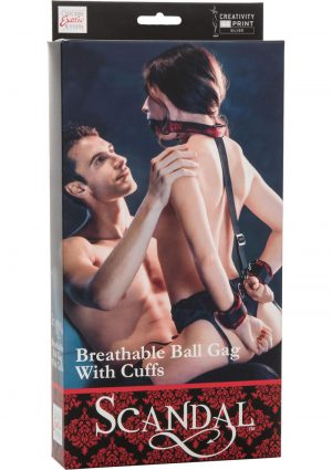 Scandal Bretable Ball Gag W/cuffs