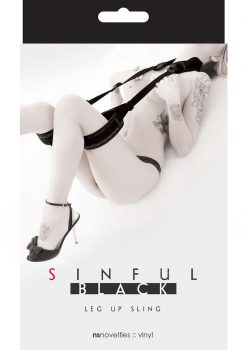 Sinful Leg Up Sling Black