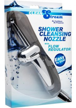 Clean Stream Enema Shower Cleansing Nozzle With Flow Regulator Metal