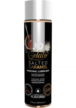 Jo Gelato Water Based Personal Lubricant Salted Caramel 4 Ounce Bottle