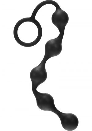 Kinx Onyx Anal Beads Flexible Silicone Black