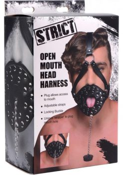Strict Open Mouth Head Harness