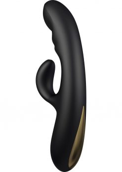 Rhythm Lavani Silicone Contoured G-Spot And Clit Stimulator USB Rechargeable Waterproof Black