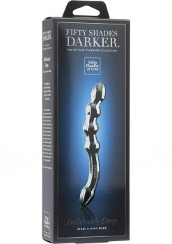 Fifty Shades Darker Deliciously Deep Steel Gspot Dildo