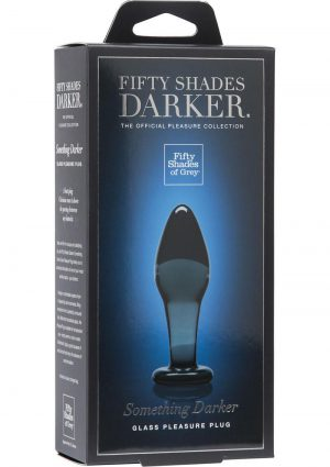 Fifty Shades Darker Something Darker Glass Pleasure Plug Black